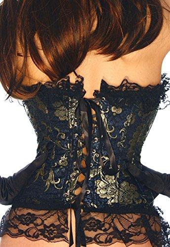 A10406 Broccato petto pizzo 1 corsetto completamente Dunkelblau con HUqRFUfX