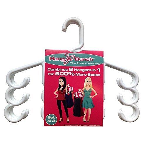 (Hang A Bunch Set of 3 Multi Purpose Hangers, White)