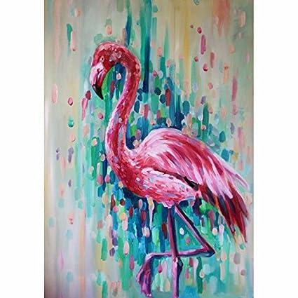 amazon com faicai art abstract animal paintings handmade pink