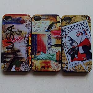ModernGut Retro USA Mix hard back case for iPhone4 4s 4g plastic skin cover 10pcs/lot