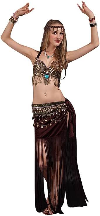 SunWanyi Profesionales Danza del Vientre Traje de Baile de