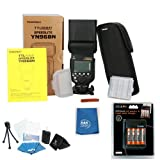 YONGNUO YN968N Wireless Camera Flash Pro KIT For Nikon D750 D810 D610 D7200 D3500 D5600 With A&R Cleaning cloth, Stand and case Battery and charger, tripod, LCD screen protector