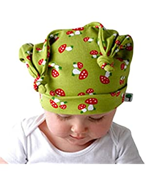 Newborn Cute Earflap Caps Headdress Mushrooms Elf Baby Hats for Boys Girls