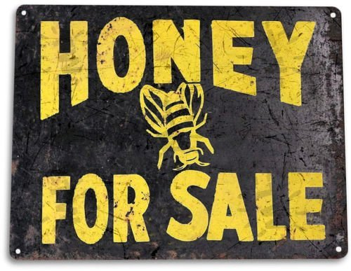 y for Sale Tin Metal Sign Bees Kitchen Farm Decor ()