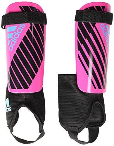 adidas Juniors' X Shin Guards, Shock Pink/Black/Bright Cyan, Small