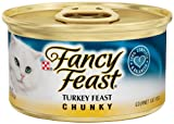 Fancy Feast Gourmet Cat Food, Chunky Turkey Feast, 3-Ounce Cans (Pack of 24), My Pet Supplies