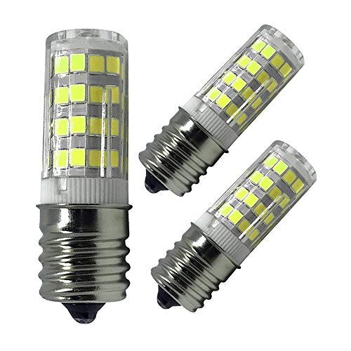 (E17 LED Bulb, 5W Ceramic Led E17 Bulb Lighting Equivalent 40W Halogen Bulbs, AC 110V-120V Daylight White 6000K Light Bulbs for Microwave Oven,Oven Appliance,Stovetop Light, Non-Dimmable (3 Pack))