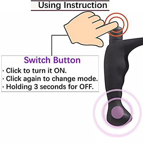Amazon 10 Speeds Male Prostate Massage Vibrator Anal Sex Toys
