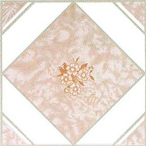 Home Dynamix 1007 Dynamix Vinyl Tile, 12 by 12-Inch, Pink, Box of 20