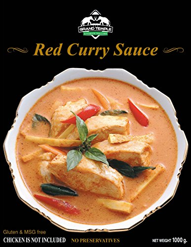 Thai curry sauce with coconut milk by Grand Temple (35 oz)(Family Pack)