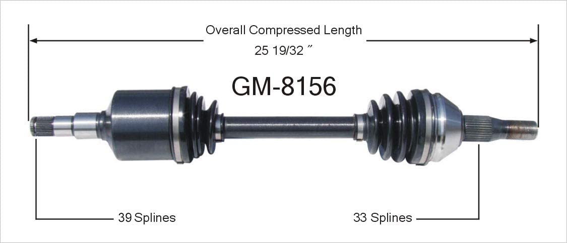 SurTrack GM-8156 CV Axle Shaft