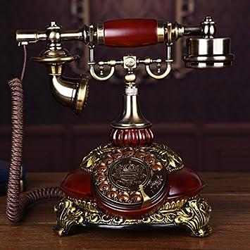Telephony Moda Especial Creative Teléfono Rotativo, Jardín De ...