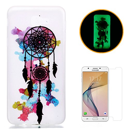 samsung-galaxy-on5-2016-silicone-gel-case-with-free-screen-protectorkasehom-luminous-effect-green-gl