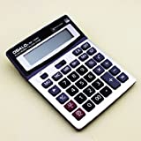 Gullor Durable OSALO OS-1200V Solar Power Digital Electronic Office Calculator with large display and plastic key