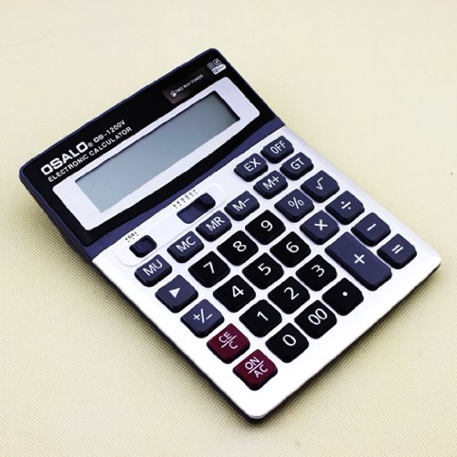 Gullor Durable OSALO OS-1200V Solar Power Digital Electronic Office Calculator with large display and plastic key by Gullor