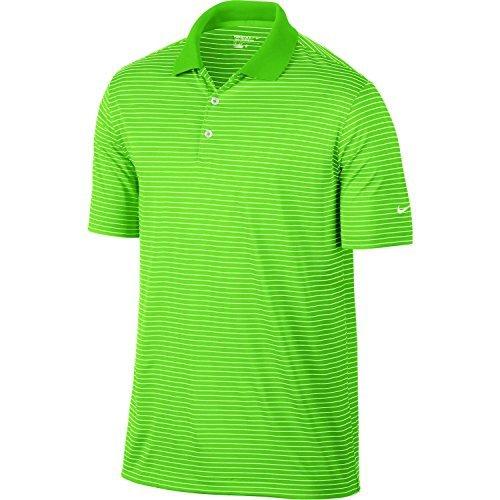 e0bd616ddf Galleon - Nike Victory Mini Stripe Golf Polo (Medium, Lime Green)