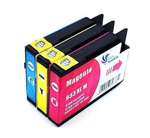 3 cartuchos HP 933 X L (C, M, Y) para HP Officejet 7510 HP ...