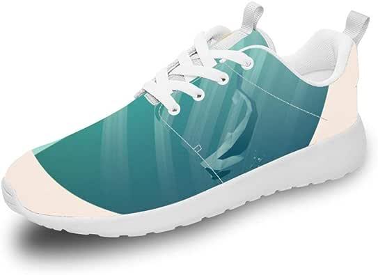 Mesllings - Zapatillas de Running Unisex con diseño de delfín ...