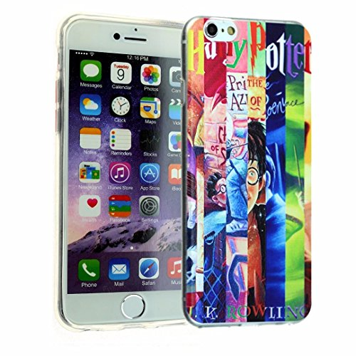 iPhone SE Case, iPhone 5s Clear Case, DURARMOR FlexArmor Harry Potter Book Clear Transparent ScratchSafe Shock-Absorption TPU Bumper (Harry Potter Cell Phone Case)