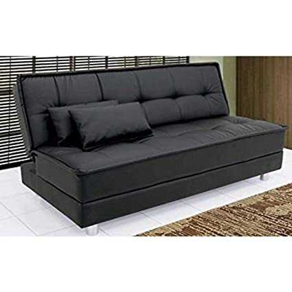 new product 5b422 32ab7 Furny Gaiety Three Seater Sofa cum Bed (Black)