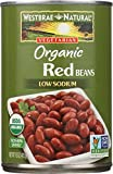 WESTBRAE NATURAL Vegetarian Organic Red Beans, 15 oz