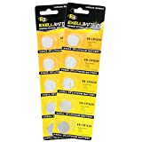 2x 5pack Exell EB-CR1620 3V Lithium Coin Cell Battery Replaces DL1620