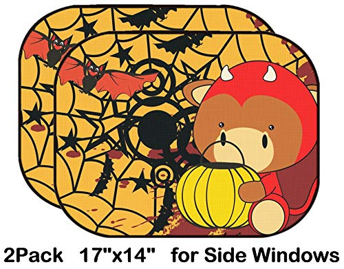 Liili Car Sun Shade for Side Rear Window Blocks UV Ray Sunlight Heat - Protect Baby and Pet - 2 Pack Bull Baby Cartoon Halloween Costume Background in Vector Format -