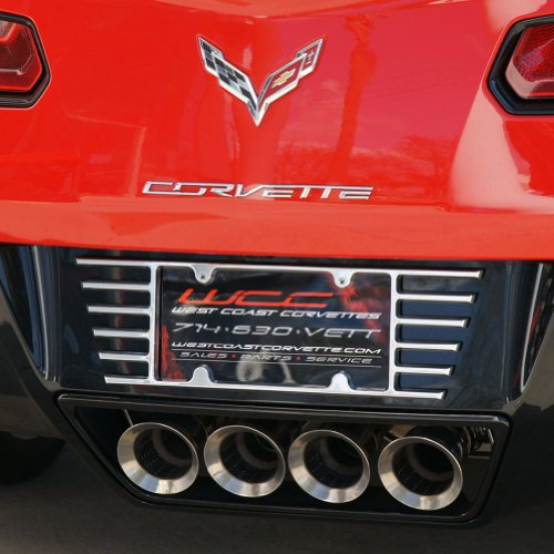 C5, C6, C7 Corvette Billet Open End License Plate Frame (C6 Billet)
