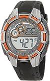 Armitron Men's 40/8279ORG Metallic Orange Bezel Grey Resin Strap Digital Chronograph Sport Watch, Watch Central