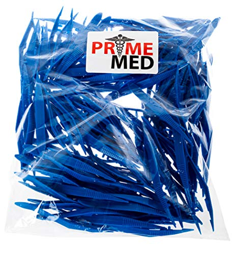(Bulk Priced Plastic Blue Forceps (Tapered Tweezers) from PrimeMed (50 Pack))