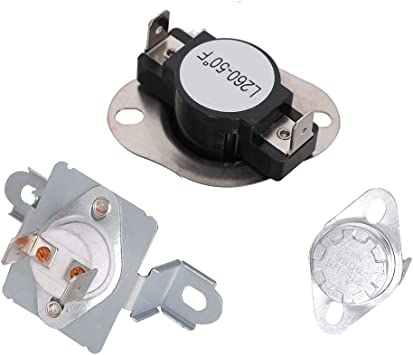 DC96-00887A /& DC47-00018A /& DC47-00016A Dryer Thermal Fuse and Thermostat Kit...