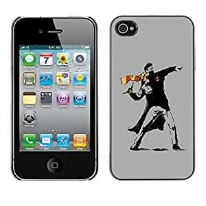"For Apple iPhone 4 / 4S , S-type Street Art Rebel"" - Arte & diseño plástico duro Fundas Cover Cubre Hard Case Cover"