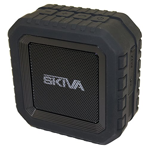 Skiva Soundcube Waterproof Bluetooth Speaker With 12 Hours Playtime  Portable   Wireless   Ip65 Splashproof   2200Mah   Microphone  For Iphone X 8 8   Samsung Galaxy  More  Color Black   Model Sp107