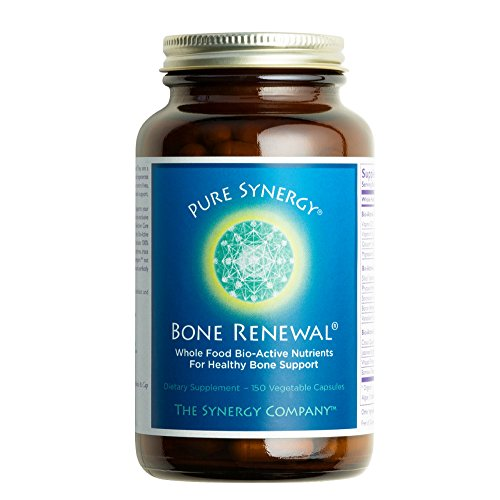 Pure Synergy Bone Renewal (150 Capsules) Bone Vitamin w/ Plant-Based Calcium, Magnesium, D3, K2, Trace Minerals