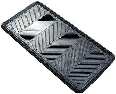 Magicfly Shoe Mat Tray, 30 x 15 x 1.2 Multi-Purpose Black Tray for All Weather Indoor Or Outdoor Use, Pack of 2