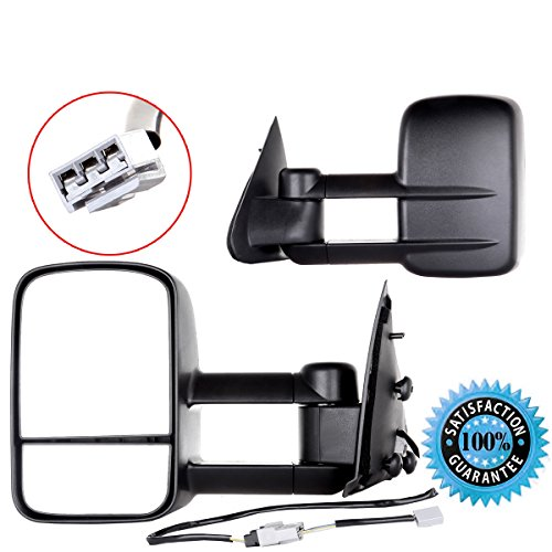 Scitoo Towing Mirror for 1997-2003 Ford F150 Power Adjusted Pair Mirrors