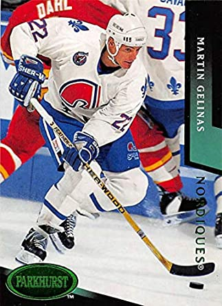 1993-94 Parkhurst Emerald Ice Hockey  166 Martin Gelinas Quebec Nordiques be37812ad