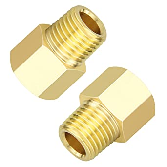 Taisher 2PCS Forging of 304 Stainless Steel Fitting Reducer Adapter 1//2-Inch Male Pipe x 1//2-Inch Female Pipe