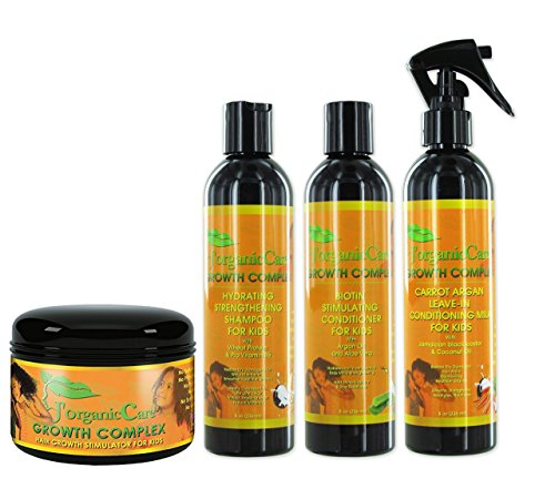 J'Organic Solutions Kid's Healthy Hair Kit. shampoo, conditioner leave-in, pomade