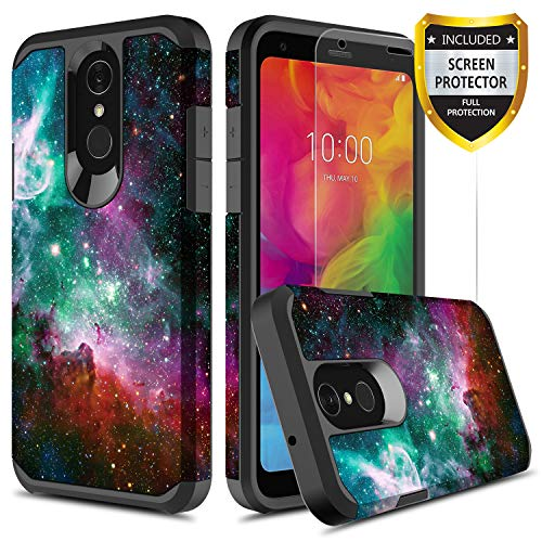 GORGCASE LG Q7 Plus, LG Q7 2018 CASE with Screen Protector, Slim Thin Cute Hard TPU Shock-Proof Dual Layer Bumper Girls Women Armor Drop Protection Protective Cover for LG Q7+ 5.5 INICH Galaxy Star