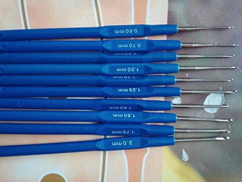 10Pcs/Set Knitting Needles Plastic Sewing Needles Handle crochet hook Knitting Knit Needle Weave Yarn haaknaalden hook set