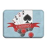 Hongclever Door Floor Mat Rug Anti-Skid Foot Pad Poker Casino Water Absorption Doormats For Home Bathroom