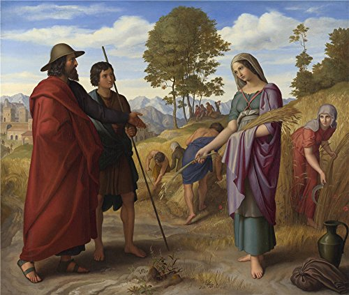 polyster Canvas ,the Art Decorative Canvas Prints of oil painting 'Julius Schnorr von Carolsfeld Ruth in Boaz's Field ', 18 x 21 inch / 46 x 54 cm is best for Foyer decor and Home decor and Gifts]()
