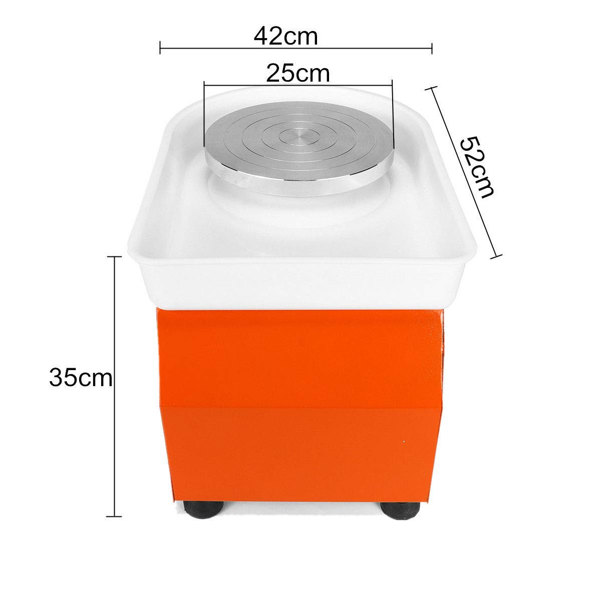 110V 350W Electric Pottery Wheel Machine with Foot Pedal Ceramic Work Clay Craft Electric Pottery Wheel DIY Clay Tool for Adults by RETERMIT (Image #8)