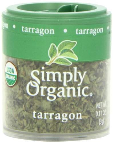 Simply Organic Mini, Og, Tarragon Leaf C/S, 0.11-Ounce (Pack of 6)