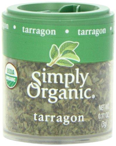 Simply Organic Mini, Og, Tarragon Leaf C/S, 0.11-Ounce (Pack of 6) (Ounce 0.11 Mini)