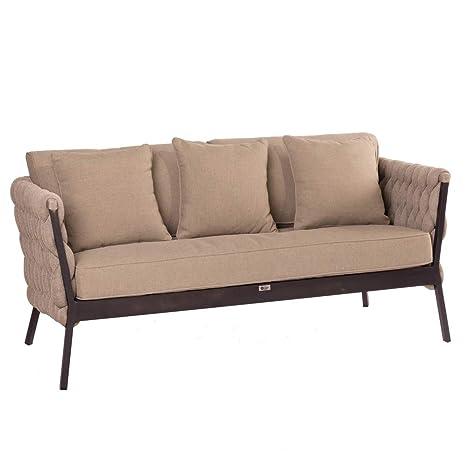 Sofá Trenzado de Interior y Exterior de Aluminio marrón para ...