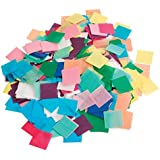Hygloss Tissue Squares - 1 inch Squares - 2,500 Pieces - Pack of 1 - Assorted Colors