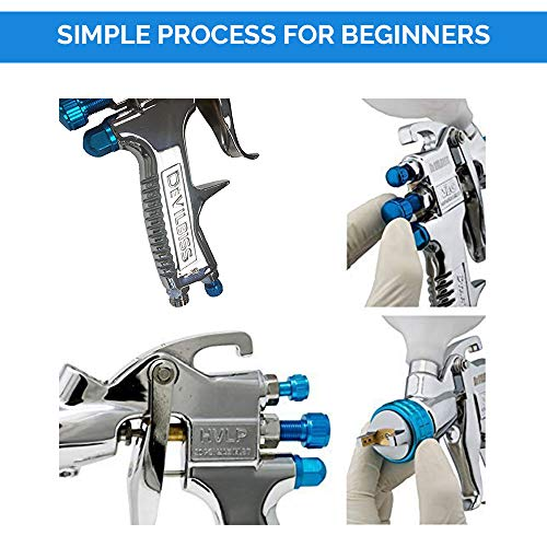 DeVilBiss STARTINGLINE HVLP Spray Gun for Painting Control 1.3mm Gravity Feed Paint Gun with 600milliliter Plastic Cup by DeVilbiss (Image #2)