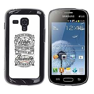 GOODTHINGS Funda Imagen Diseño Carcasa Tapa Trasera Negro Cover Skin Case para Samsung Galaxy S Duos S7562 - inspirador blanco de verano retro vendimia